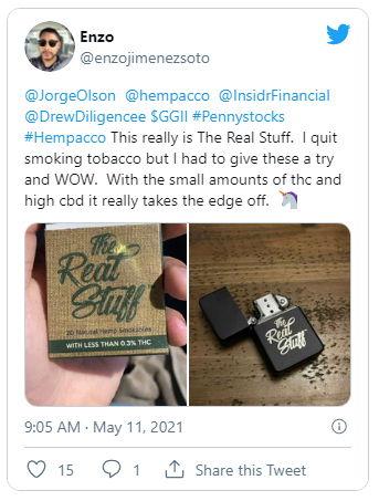 The Real Stuff Review - Hempacco - cbd pre roll